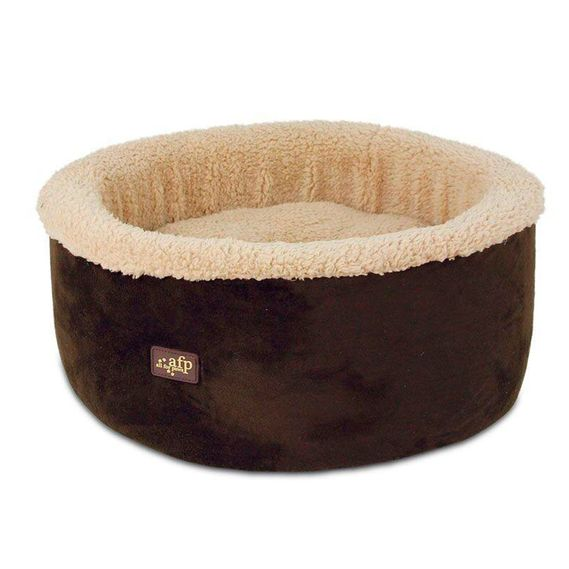 cod.-5346-Lambswool---Curl-Cuddle-Cat-Bed-Brown